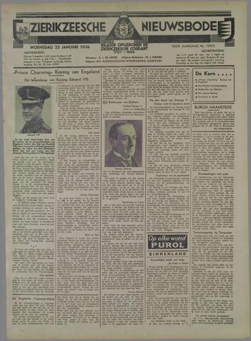 Zierikzeesche Nieuwsbode 1936-01-22