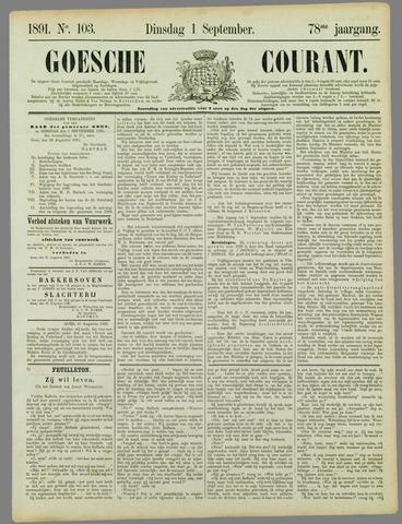 Goessche Courant 1891-09-01