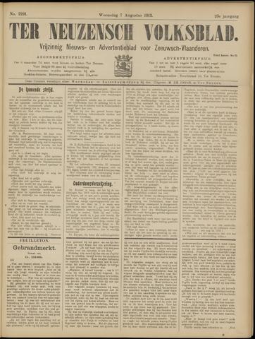 Ter Neuzensch Volksblad. Vrijzinnig nieuws- en advertentieblad voor Zeeuwsch- Vlaanderen / Zeeuwsch Nieuwsblad. Nieuws- en advertentieblad voor Zeeland 1912-08-07