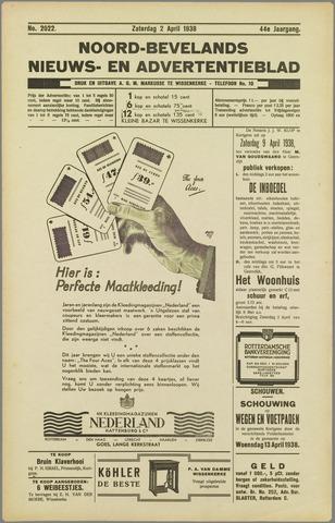 Noord-Bevelands Nieuws- en advertentieblad 1938-04-02