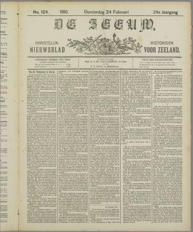 De Zeeuw. Christelijk-historisch nieuwsblad voor Zeeland 1910-02-24