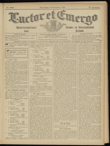 Luctor et Emergo. Antirevolutionair nieuws- en advertentieblad voor Zeeland / Zeeuwsch-Vlaanderen. Orgaan ter verspreiding van de christelijke beginselen in Zeeuwsch-Vlaanderen 1913-11-05