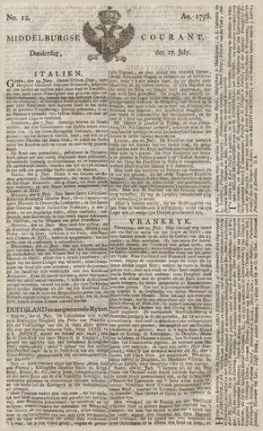 Middelburgsche Courant 1758-07-27