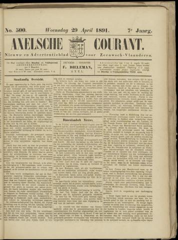Axelsche Courant 1891-04-29