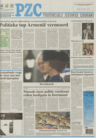 Provinciale Zeeuwse Courant 1999-10-28