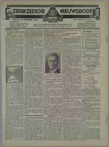 Zierikzeesche Nieuwsbode 1940-09-20