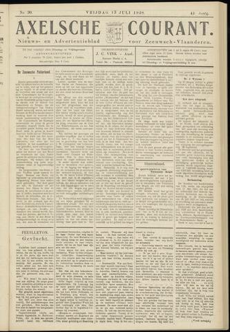 Axelsche Courant 1928-07-13