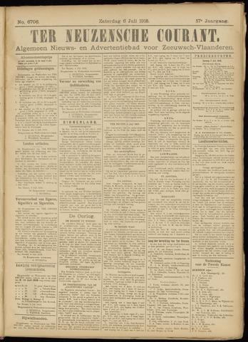 Ter Neuzensche Courant. Algemeen Nieuws- en Advertentieblad voor Zeeuwsch-Vlaanderen / Neuzensche Courant ... (idem) / (Algemeen) nieuws en advertentieblad voor Zeeuwsch-Vlaanderen 1918-07-06