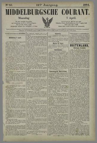 Middelburgsche Courant 1884-04-07