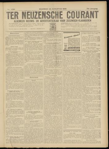 Ter Neuzensche Courant. Algemeen Nieuws- en Advertentieblad voor Zeeuwsch-Vlaanderen / Neuzensche Courant ... (idem) / (Algemeen) nieuws en advertentieblad voor Zeeuwsch-Vlaanderen 1935-08-26