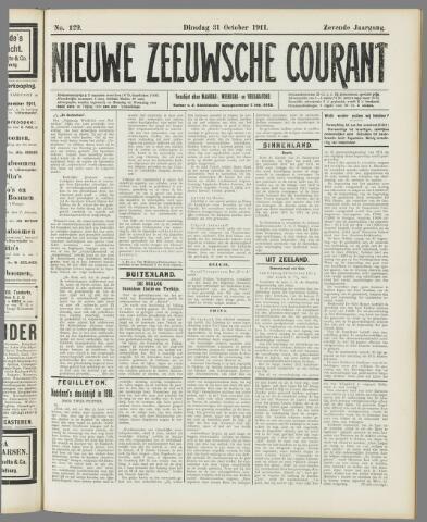 Nieuwe Zeeuwsche Courant 1911-10-31
