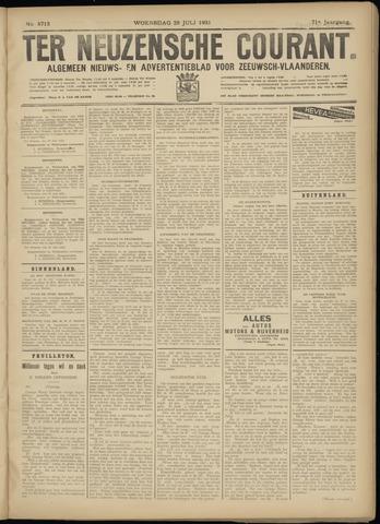 Ter Neuzensche Courant. Algemeen Nieuws- en Advertentieblad voor Zeeuwsch-Vlaanderen / Neuzensche Courant ... (idem) / (Algemeen) nieuws en advertentieblad voor Zeeuwsch-Vlaanderen 1931-07-29