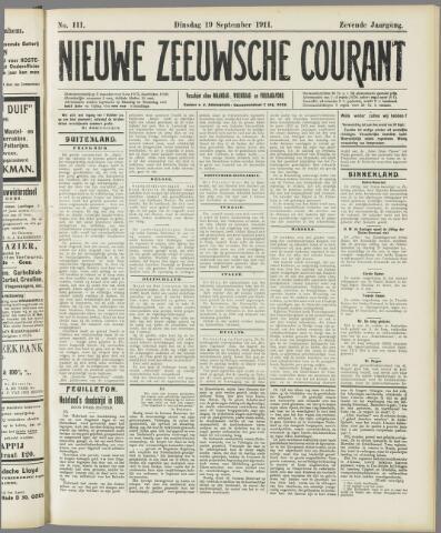 Nieuwe Zeeuwsche Courant 1911-09-19