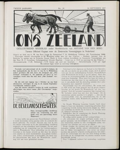 Ons Zeeland / Zeeuwsche editie 1927-09-24