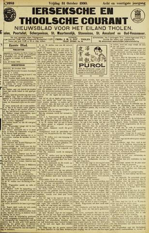 Ierseksche en Thoolsche Courant 1930-10-31