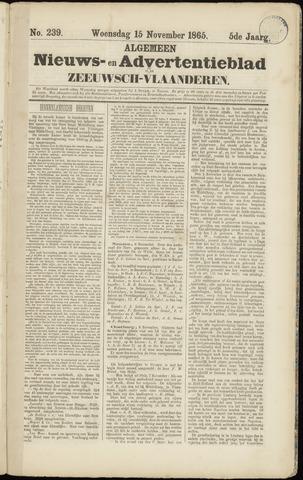 Ter Neuzensche Courant. Algemeen Nieuws- en Advertentieblad voor Zeeuwsch-Vlaanderen / Neuzensche Courant ... (idem) / (Algemeen) nieuws en advertentieblad voor Zeeuwsch-Vlaanderen 1865-11-15