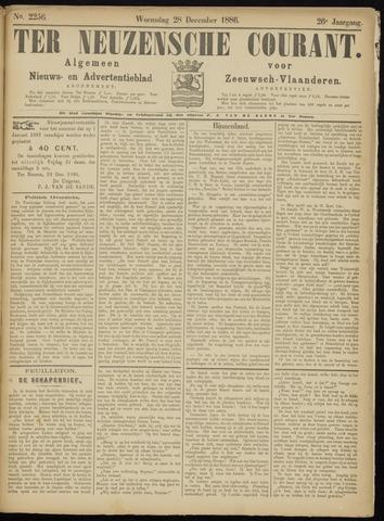 Ter Neuzensche Courant. Algemeen Nieuws- en Advertentieblad voor Zeeuwsch-Vlaanderen / Neuzensche Courant ... (idem) / (Algemeen) nieuws en advertentieblad voor Zeeuwsch-Vlaanderen 1886-12-29