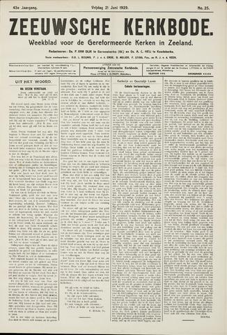 Zeeuwsche kerkbode, weekblad gewijd aan de belangen der gereformeerde kerken/ Zeeuwsch kerkblad 1929-06-21