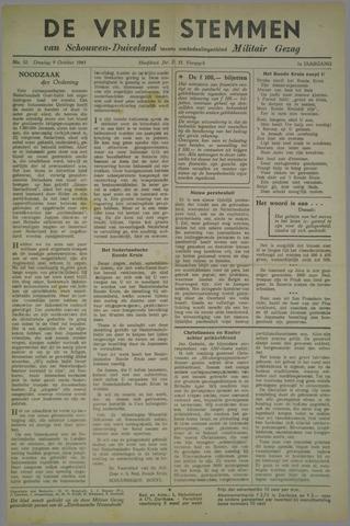 Vrije Stemmen van Schouwen-Duiveland, tevens mededeelingenblad Militair Gezag 1945-10-09