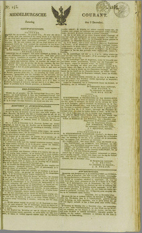Middelburgsche Courant 1825-12-03