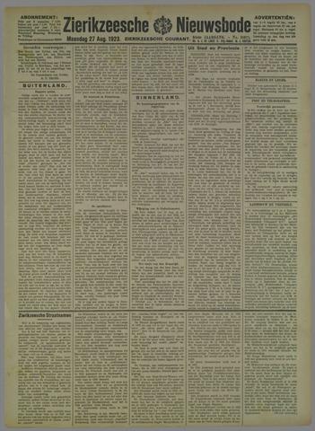 Zierikzeesche Nieuwsbode 1923-08-27
