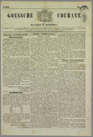 Goessche Courant 1853-11-07