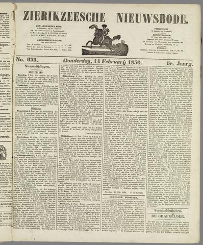 Zierikzeesche Nieuwsbode 1850-02-14