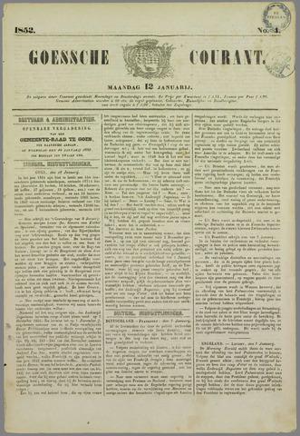 Goessche Courant 1852-01-12
