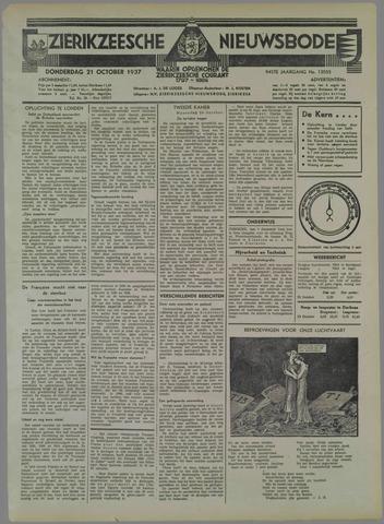 Zierikzeesche Nieuwsbode 1937-10-21