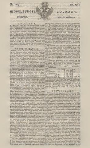 Middelburgsche Courant 1762-08-26