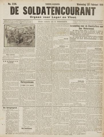 De Soldatencourant. Orgaan voor Leger en Vloot 1916-02-23