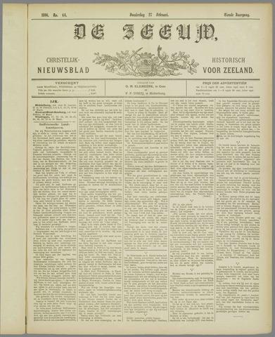 De Zeeuw. Christelijk-historisch nieuwsblad voor Zeeland 1896-02-27