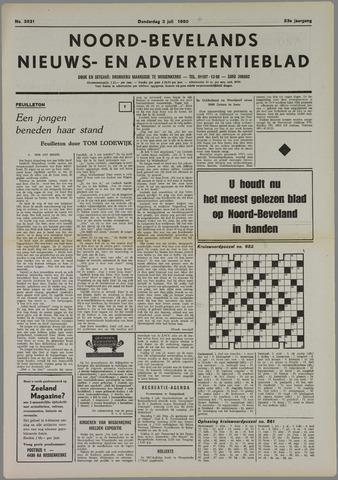 Noord-Bevelands Nieuws- en advertentieblad 1980-07-03