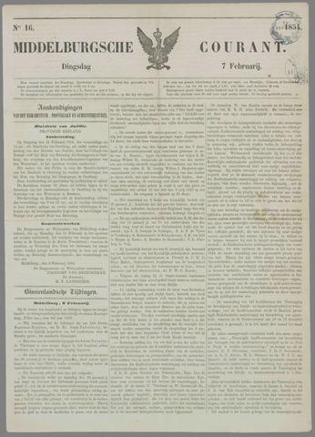 Middelburgsche Courant 1854-02-07