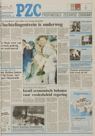 Provinciale Zeeuwse Courant 1992-09-03