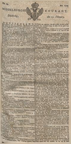 Middelburgsche Courant 1779-02-25