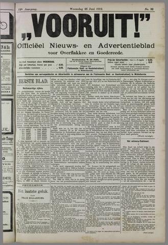 """""""Vooruit!""""Officieel Nieuws- en Advertentieblad voor Overflakkee en Goedereede 1912-06-26"""