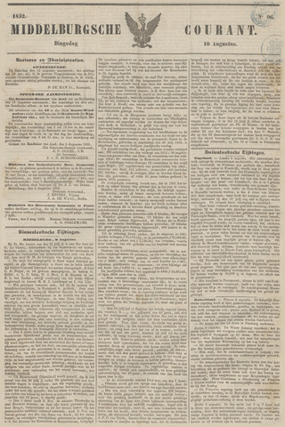 Middelburgsche Courant 1852-08-10