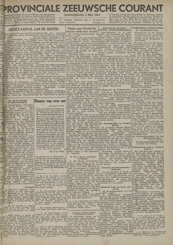 Provinciale Zeeuwse Courant 1944-05-04