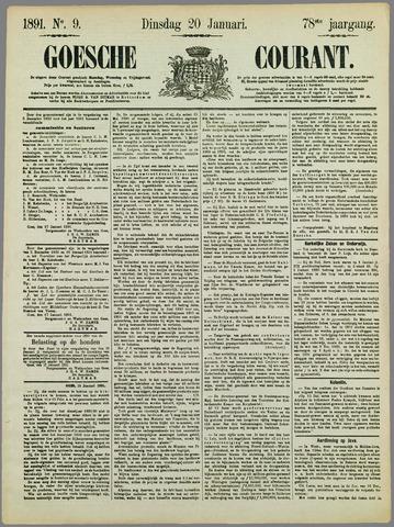Goessche Courant 1891-01-20