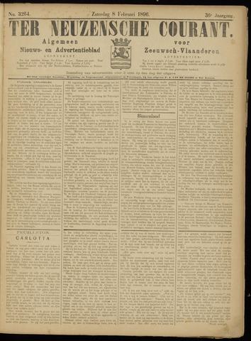Ter Neuzensche Courant. Algemeen Nieuws- en Advertentieblad voor Zeeuwsch-Vlaanderen / Neuzensche Courant ... (idem) / (Algemeen) nieuws en advertentieblad voor Zeeuwsch-Vlaanderen 1896-02-08