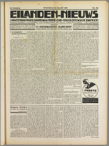 Eilanden-nieuws. Christelijk streekblad op gereformeerde grondslag 1938-03-23