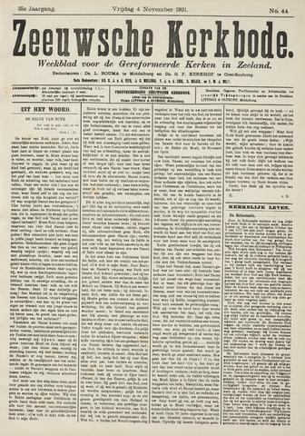 Zeeuwsche kerkbode, weekblad gewijd aan de belangen der gereformeerde kerken/ Zeeuwsch kerkblad 1921-11-04