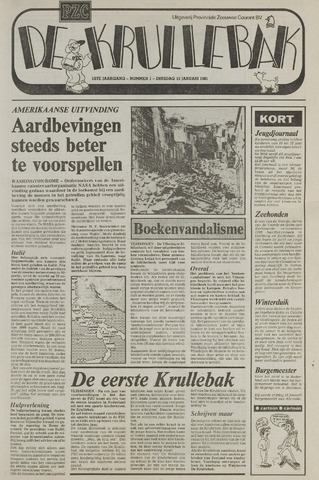 Provinciale Zeeuwse Courant katern Krullenbak (1981-1999) 1981