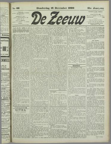 De Zeeuw. Christelijk-historisch nieuwsblad voor Zeeland 1920-12-16