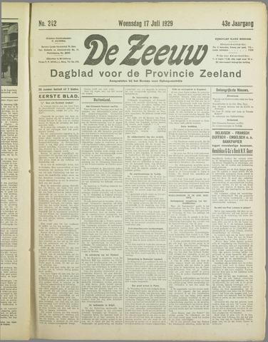 De Zeeuw. Christelijk-historisch nieuwsblad voor Zeeland 1929-07-17
