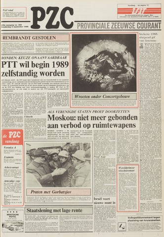 Provinciale Zeeuwse Courant 1985-09-05