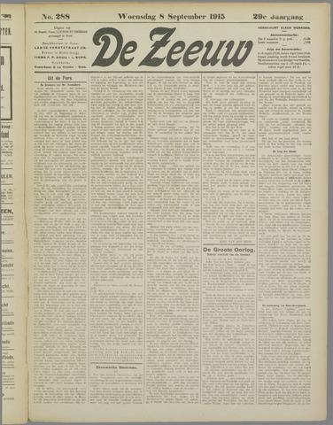 De Zeeuw. Christelijk-historisch nieuwsblad voor Zeeland 1915-09-08