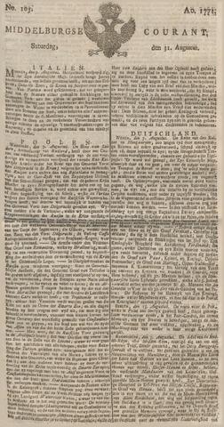 Middelburgsche Courant 1771-08-31