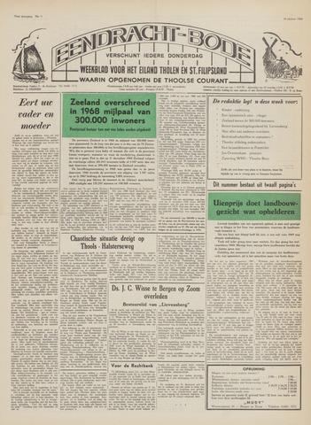 Eendrachtbode (1945-heden)/Mededeelingenblad voor het eiland Tholen (1944/45) 1969-01-16